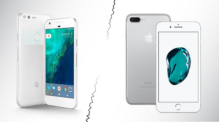 Google Pixel iPhone 7