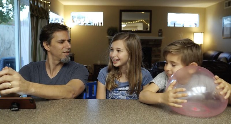 Dad Kids Exact Instructions challenge