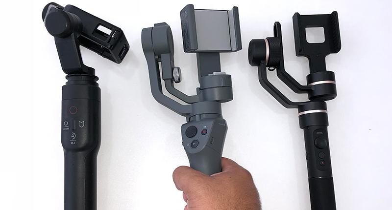 GoPro Karma Grip, DJI OSMO Mobile 2, FeiyuTech