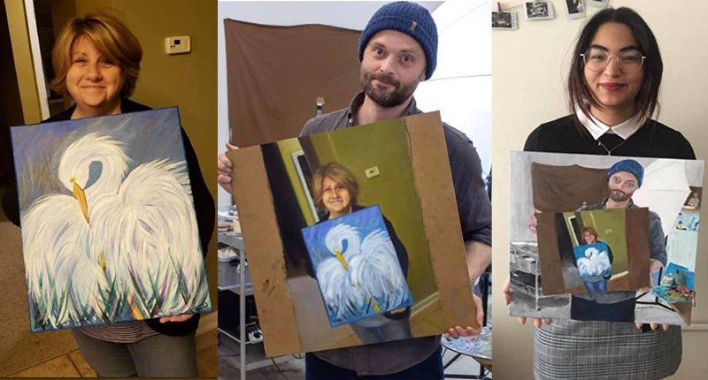 Paintception Painting mom bird Techie Dad